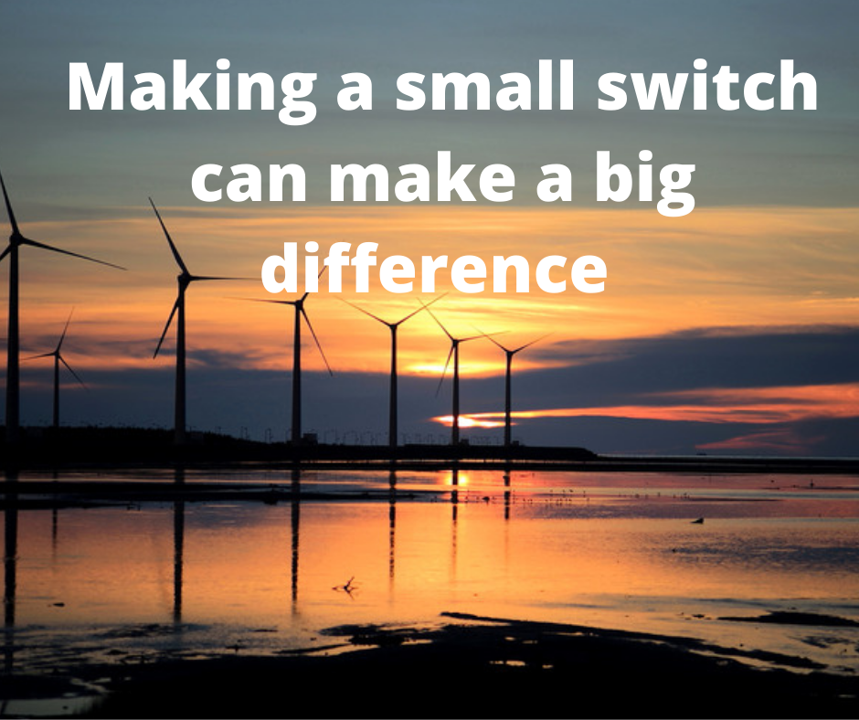 Making a small switch can make a big difference